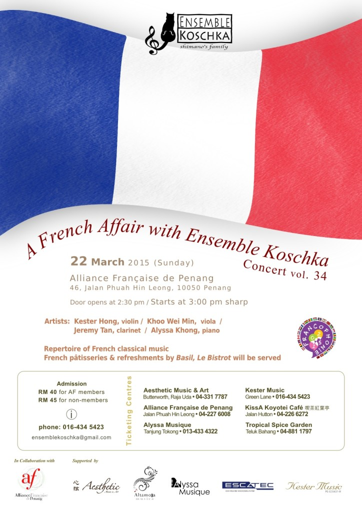 Ensemble Koschka Concert vol. 34: A French Affair with Ensemble Koschka