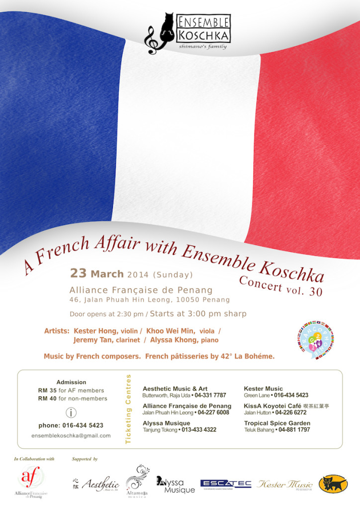 Ensemble Koschka Concert vol. 30: A French Affair with Ensemble Koschka