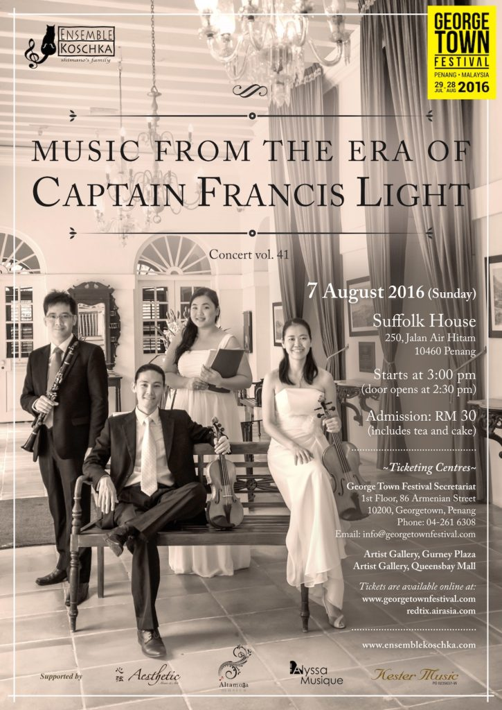 Ensemble Koschka Concert vol. 41: Music from the Era of Captain Francis Light