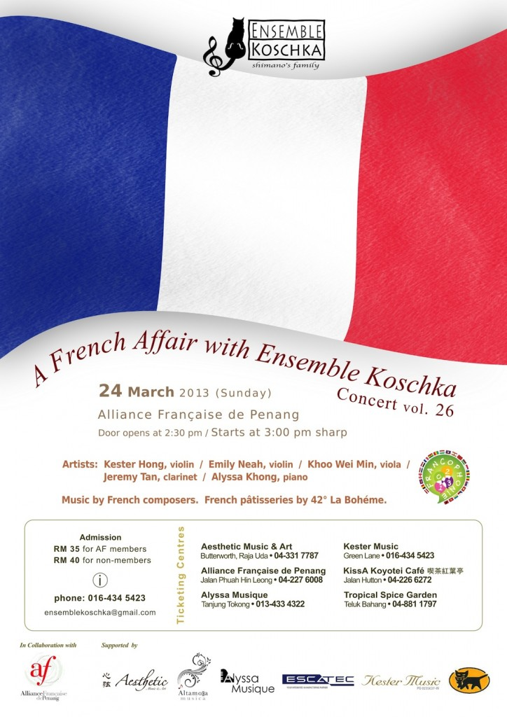 Ensemble Koschka Concert vol. 26: A French Affair with Ensemble Koschka